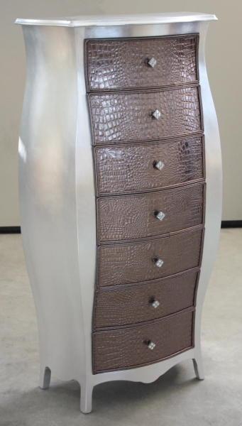 Mobili arredamenti it comodino e cassettiera bombata - Mobili rivestiti in pelle ...
